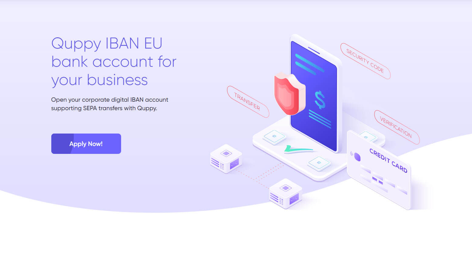 حساب IBAN داخل تطبيق Quppy Wallet