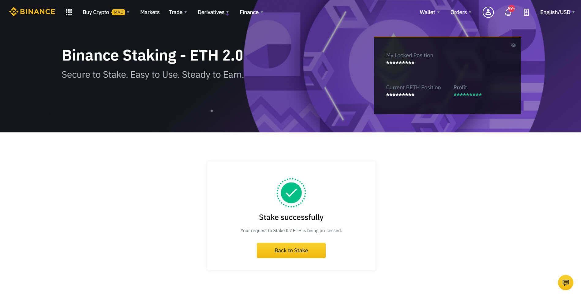 التجميد المؤقت Staking ل ETH 2.0