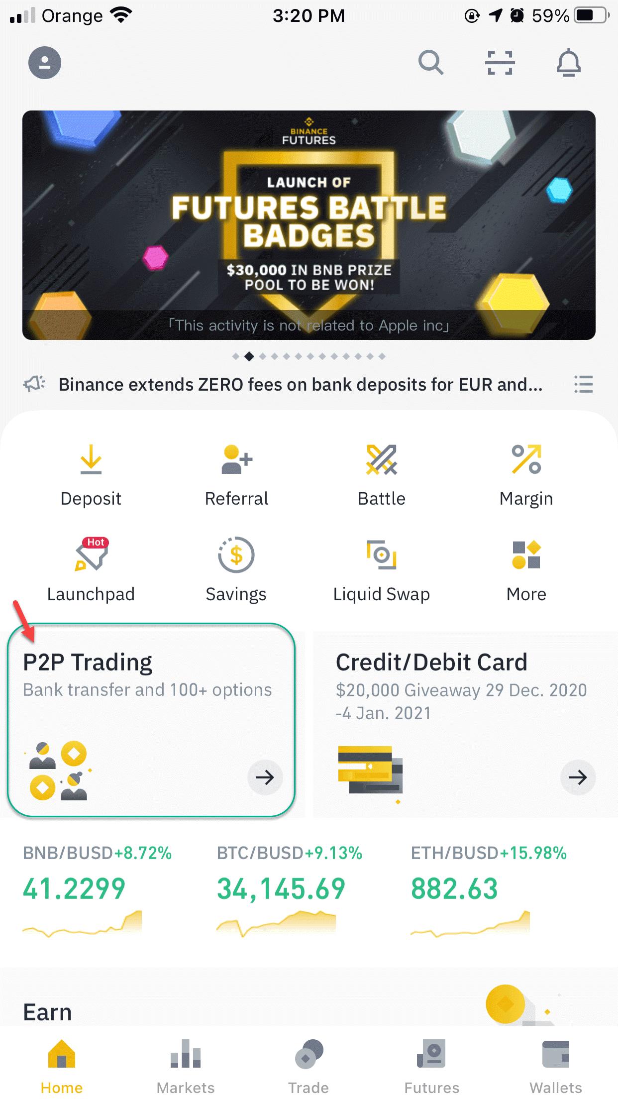 كيفية استخدام Binance P2P Trading
