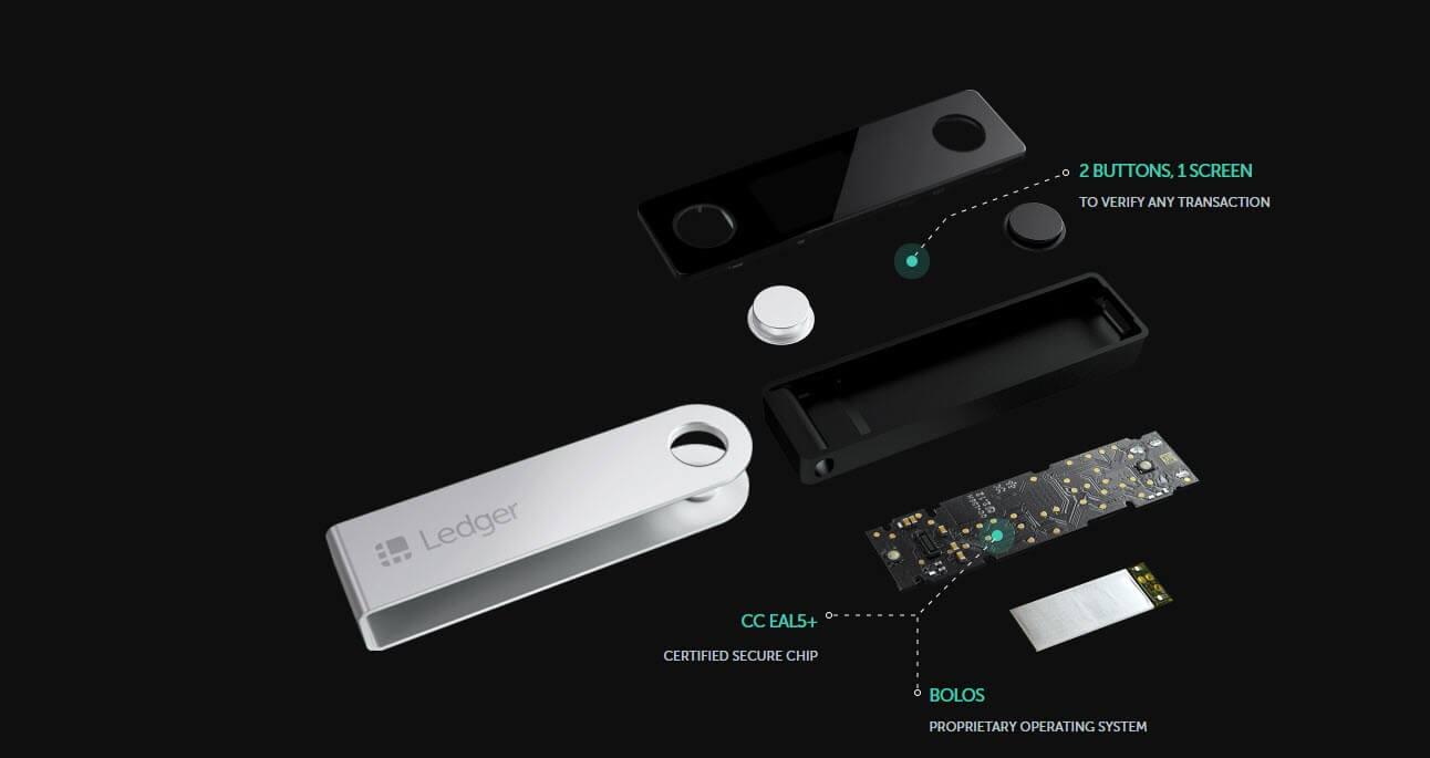 محفظة Ledger Nano S او Ledger Nano X