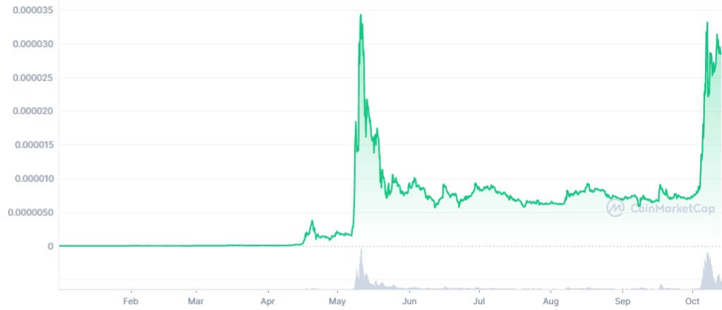 تطور سعر Shib هذه السنة